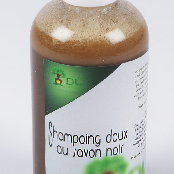 Shampoing doux au savon noir Africain